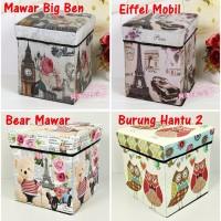 Storage Box / Storage Stool / Tempat Mainan / Majalah Box Simpan