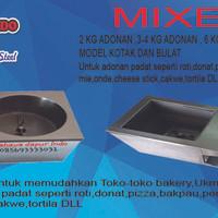 Mixer 6kg adonan untuk adonan padat seperti roti,pizza,donat,bakpau