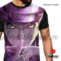 kaos 3D fullprint, Naruto in purple