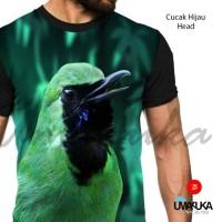harga Kaos 3d Fullprint, Cucak Hijau Head Tokopedia.com
