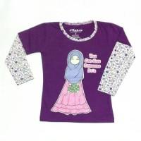 Kaos Anak Muslimah/atasan Kaos Muslim/baju Kaos Anak Perempuan