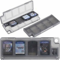 Album case kotak cartridge game playstation ps vita black / white