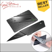 Pisau Lipat Survival Sinclair Anti Karat Model Kartu Card Sharp Knife