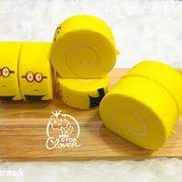 MINION ROLL CAKE SQUISHY / minions papoy squishi kue rol slime