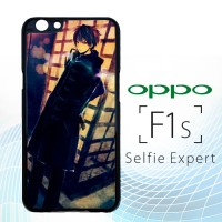 Anime Boy Sitting in the Rain Y1496 Casing HP Oppo F1s Selfie Expert P