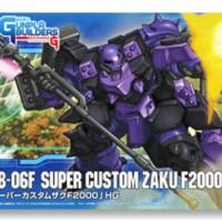 HG Super Custom Zaku F2000 - BANDAI