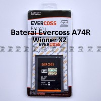 Baterai Evercoss A74r Winner X2 Original Double Power Evercross Cross
