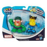 Hashbro Playskool Mr. Potato Head Marvel As Hulk And Wolverine Set
