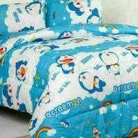 Bed cover set katun lokal halus aneka Doraemon size 160x200/180x200