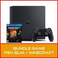 PS4 Slim 500GB Black + Minecraft