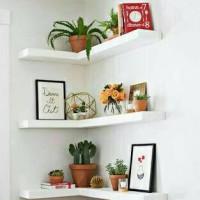 3set rak dinding minimalis / ambalan / floating shelf