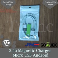 Jual 2.4a Magnetic Charger | Usb Cable Charger For Android Murah