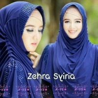 Zehra Syiria Navy / Kerudung Jersey / Grosir Kerudung