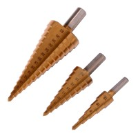 BI450 Mata Bor 3pcs Titanium Coated Step Drill Bit Metal