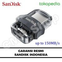 Jual SanDisk OTG 32GB m3.0 USB 3.0 Ultra Dual USB Drive GARANSI RESMI Murah