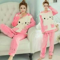 Piyama Dewasa Hello Kitty / Piyama Wanita / Baju Tidur Wanita