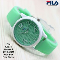 Jam Tangan Wanita / Jam Tangan Murah Fila Filena Green Color + Box