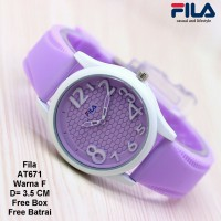 Jam Tangan Wanita / Jam Tangan Murah Fila Filena Purpel Color + Box