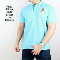 polo shirt hush puppies biru muda