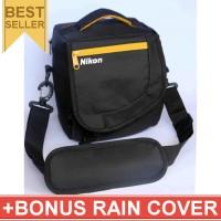 Jual Tas Kamera Nikon Selempang Kotak Gratis Jas Hujan (Rain Cover) Kode K Murah