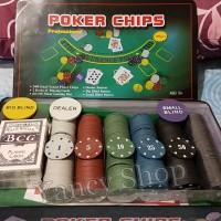 harga Board Game Chip Poker Set Isi 300 Tokopedia.com