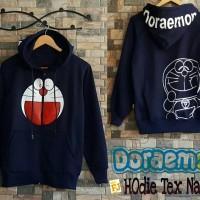 Jual Jaket Pria /Sweater Pria / Sweater Dan Jaket Doraemon Hoodie Text Navy Murah