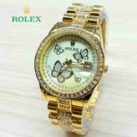 Jam Tangan Wanita / Cewek Rolex Butterfly
