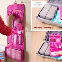 PROMO New Travel Toiletries Bag (Bahan Anti Air, Bisa Digantung) PALIN