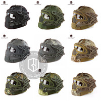 Helm Tactical Emerson G4 Full Gear Face Protection Mask Goggle Ori