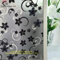 Jual Sticker/stiker kaca/kaca film motif batik Murah