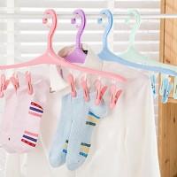 Hanger Gantungan Kaos Kaki Serbaguna 8 Jepit Sock Hanger
