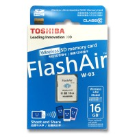 Toshiba Flash Air Wireless SD Card Class 10 16GB - SD-R Berkualitas