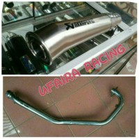KNALPOT RACING AKRAPOVIC MEGAPHONE FOR YAMAHA MX KING 150 CC