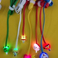 Kabel Data Micro USB LED Universal Karakter / Kabel DAta HP Murah