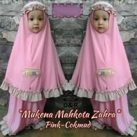 FG - [mukena kid zahra DR] baju muslim anak perempuan spandek pink