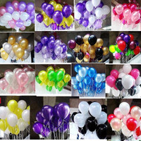 BALON ISI 50 PCS LATEX METALIK / DEKORASI PESTA BALLON WARNA WARNI