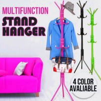 Stand Hanger Multifungsi Irit Tempat / Gantungan Baju / Gantungan Tas