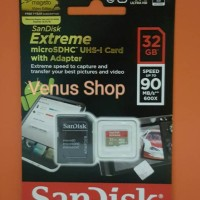 SANDISK EXTREME MICROSD UHS-I 32GB 90 MB / S - MICROSDHC 32 GB 90 MBPS3