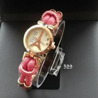 Jam Tangan Wanita Cewek Paris / Jtr 529 Pink Hermes Gucci