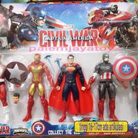 Action Figure Civil War: Avengers Captain America-Ironman Dc Marvel