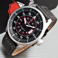 Jam Tangan Pria / Cowok Reddington Number Original Leather BlackSilv5