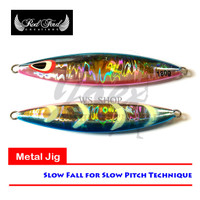 TERBATAS Volante Slow Fall Jig 180gr #BP - Metal Jig Hologram Biru Pin