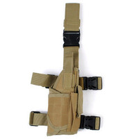 DISCOUNT Tactical Universal Pistol Drop Leg Right Hand Holster - TAN N