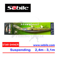 TERBATAS Sebile 14gr Star Shiner Minnow Suspending 10,8cm - Smokin Pur