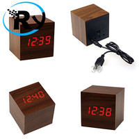 DISCOUNT LED Digital Wood Clock - JK-808 - Wooden TERMURAH