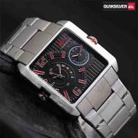 Jam Tangan Pria / Cowok Quiksilver Double Watch Rantai SIlv Jam Tangan