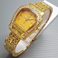 Jam Tangan Wanita / Cewek AIgner A Diamond Rantai Gold Jam Tangan