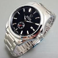 Jam Tangan Pria / Cowok Rolex Automatic Big Size Rantai Sil Jam Tangan