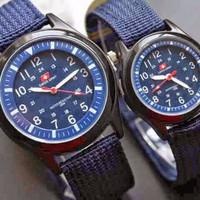 Jam Tangan Obral Jam Tangan Couple Swiss Army / Jtr 072 Biru