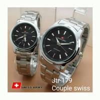 Jam Tangan Obral Jam Tangan Couple Swiss Army Kompas / Jtr 179 Black